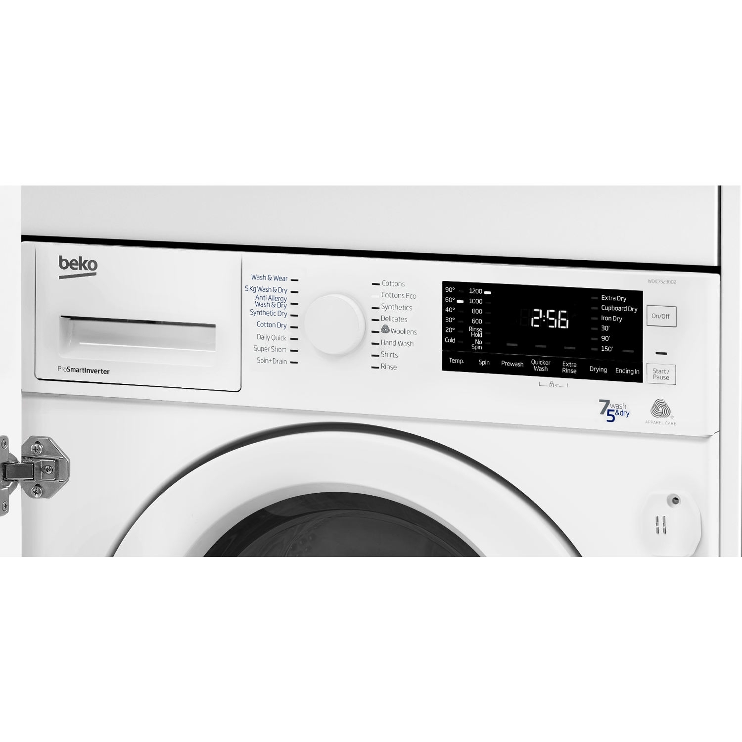 Beko Integrated 7kg/5kg 1200 Spin Washer Dryer - White - 4