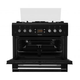 Blomberg 60cm Double Oven Gas Cooker - Black - 2