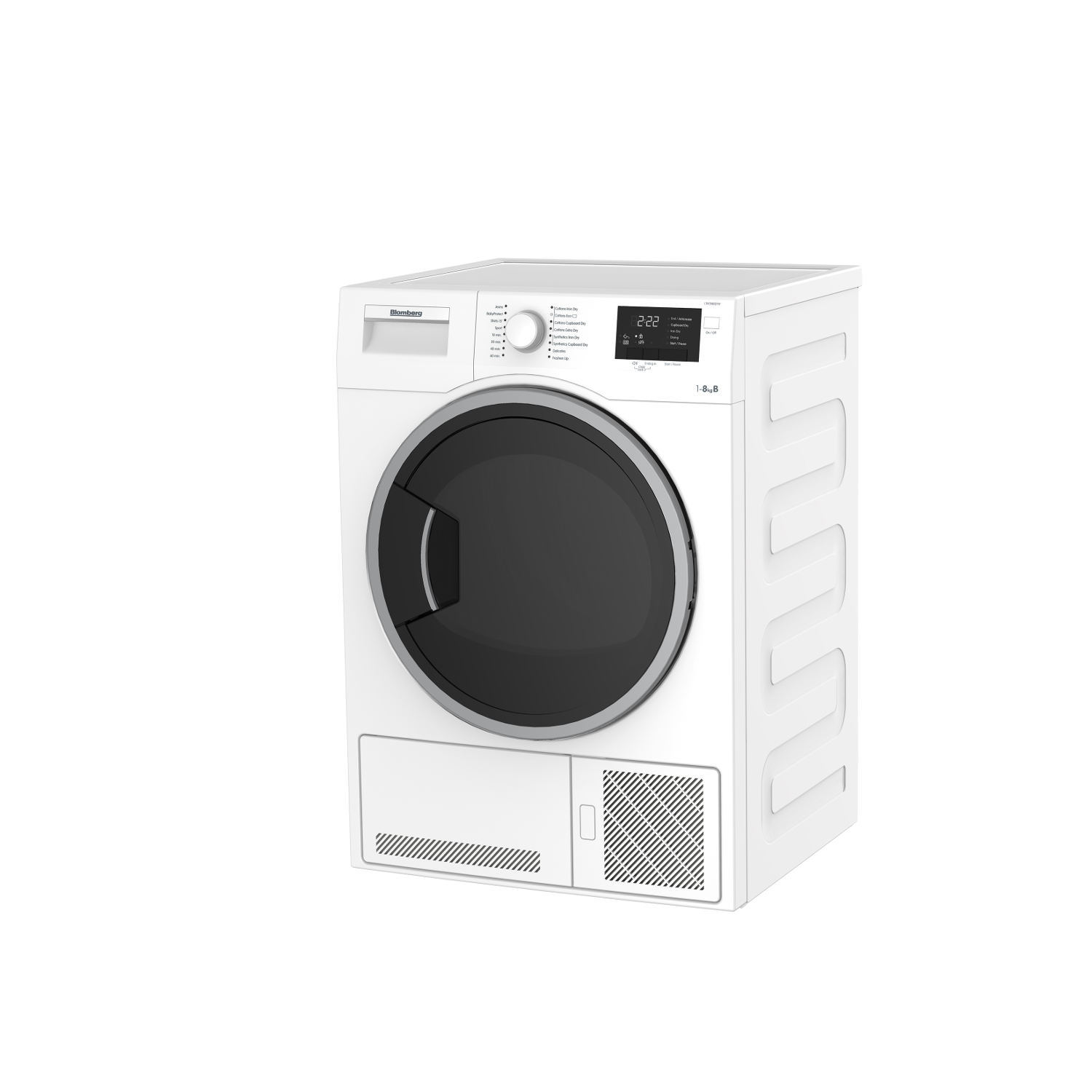 Blomberg 8kg Condenser Tumble Dryer - White - 5