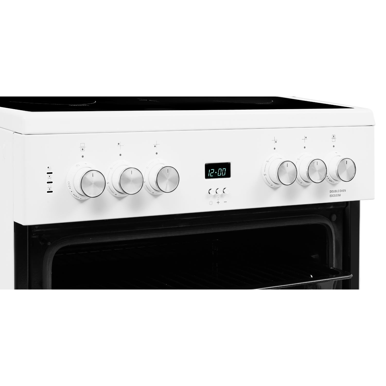 Beko 60cm Double Oven Electric Cooker with Ceramic Hob - White - A/A Rated - 6