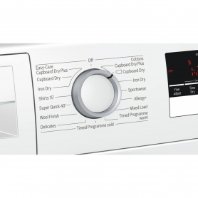 Bosch 8kg Condenser Tumble Dryer - White - B Rated - 1