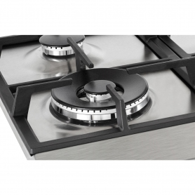 Blomberg 60cm Gas Hob with High Power Wok Burner - Stainless Steel - 1