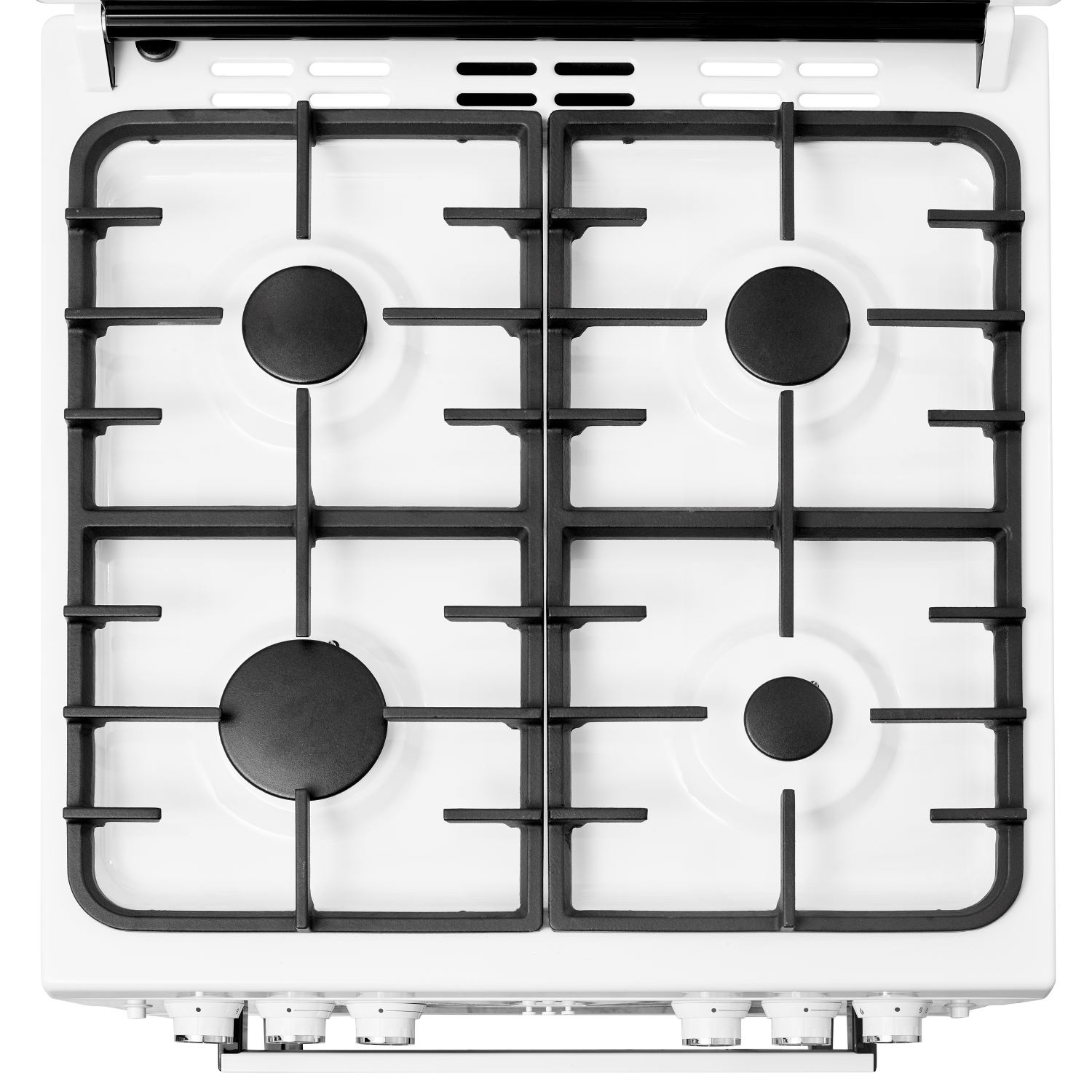 Beko 60cm Double Oven Gas Cooker with Glass Lid - White - 1