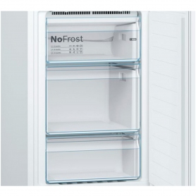 Bosch 60cm Frost Free Fridge Freezer - White - A++ Rated - 1