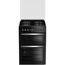 Blomberg 60cm Double Oven Gas Cooker - Black