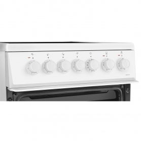 Beko 50cm Double Oven Electric Cooker - White - A/A Rated - 5