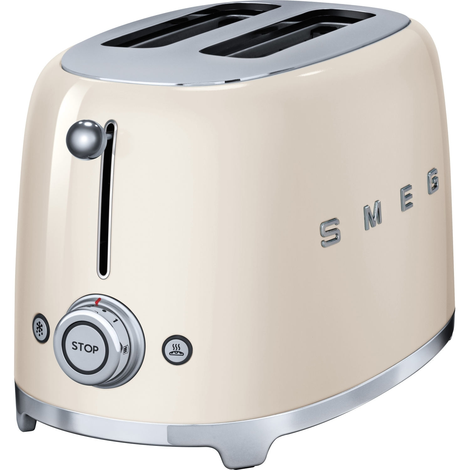 Smeg 2 Slice Toaster - Cream - 1