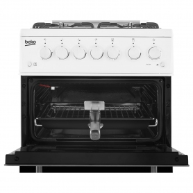Beko 50cm Gas Cooker with Glass lid  - 1