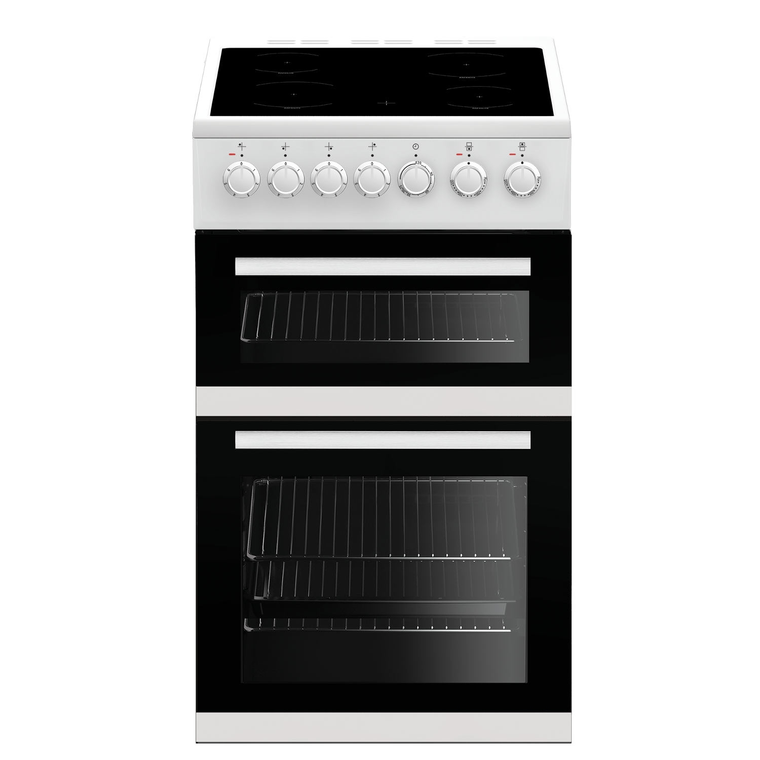 Beko 50cm Double Oven Electric Cooker - White - A/A Rated - 0