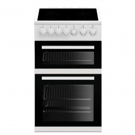 Beko 50cm Double Oven Electric Cooker - White - A/A Rated - 6