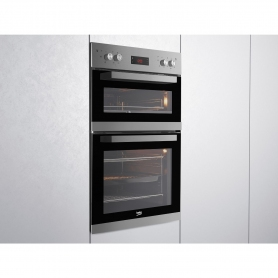 Beko Built In Electric Double Oven - Stainless Steel - A/A Rated - 1