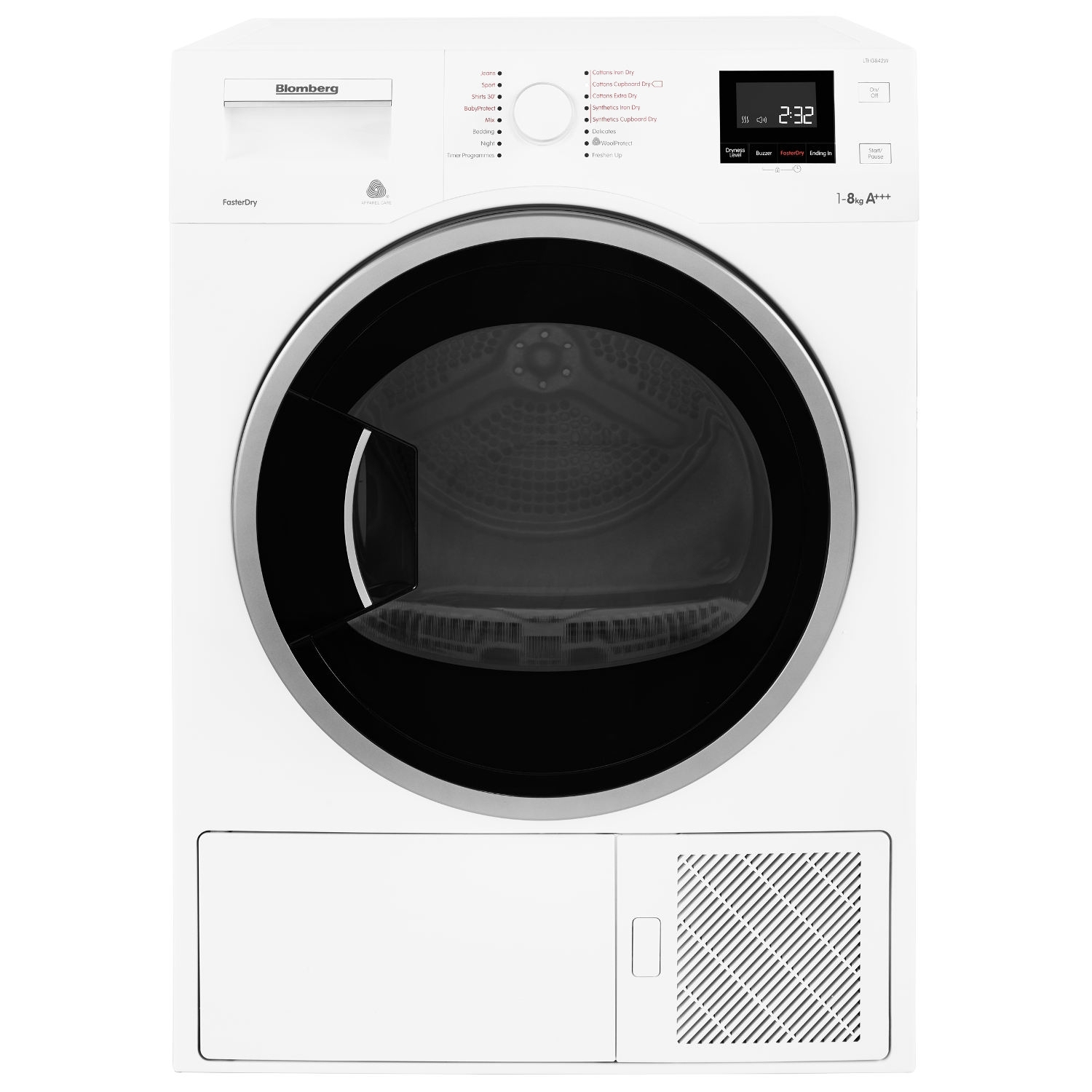 Blomberg LTH3842W 8kg Heat Pump Tumble Dryer - White - 3