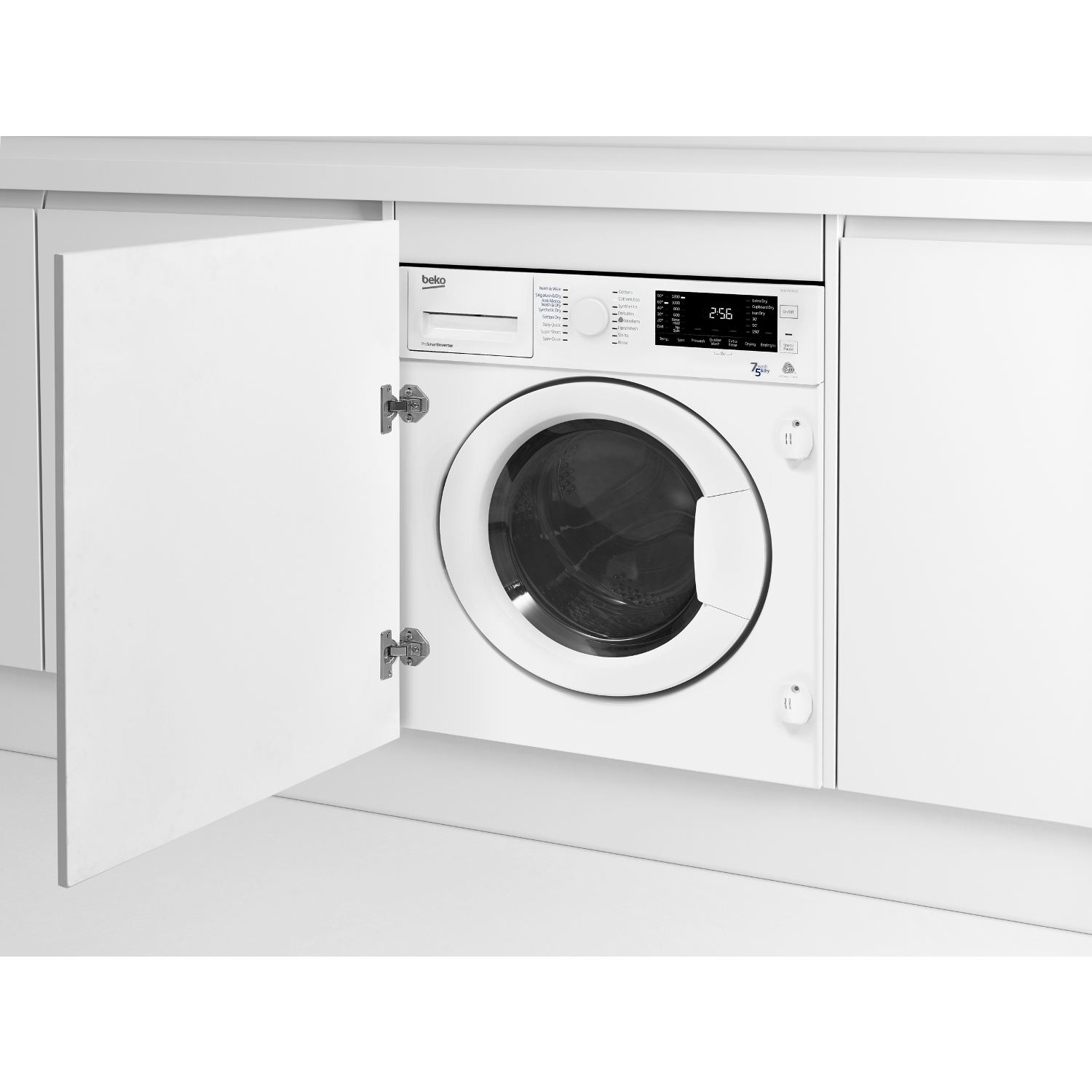 Beko Integrated 7kg/5kg 1200 Spin Washer Dryer - White - B Rated - 2