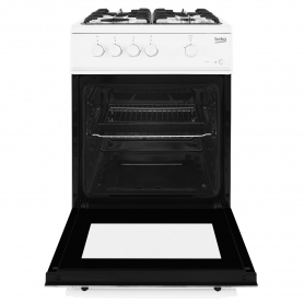 Beko 50cm Single Oven Gas Cooker - White - 4