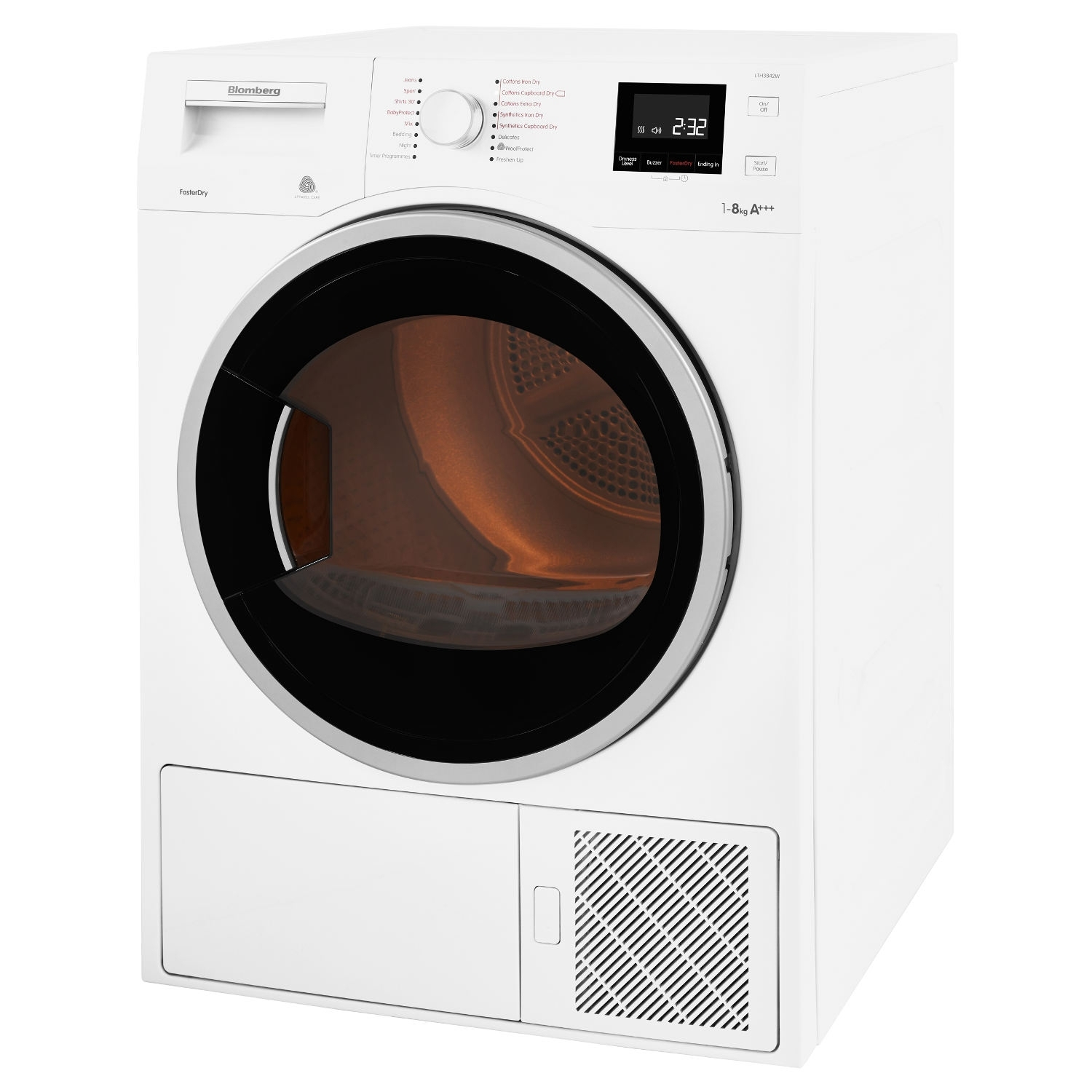 Blomberg LTH3842W 8kg Heat Pump Tumble Dryer - White - 1