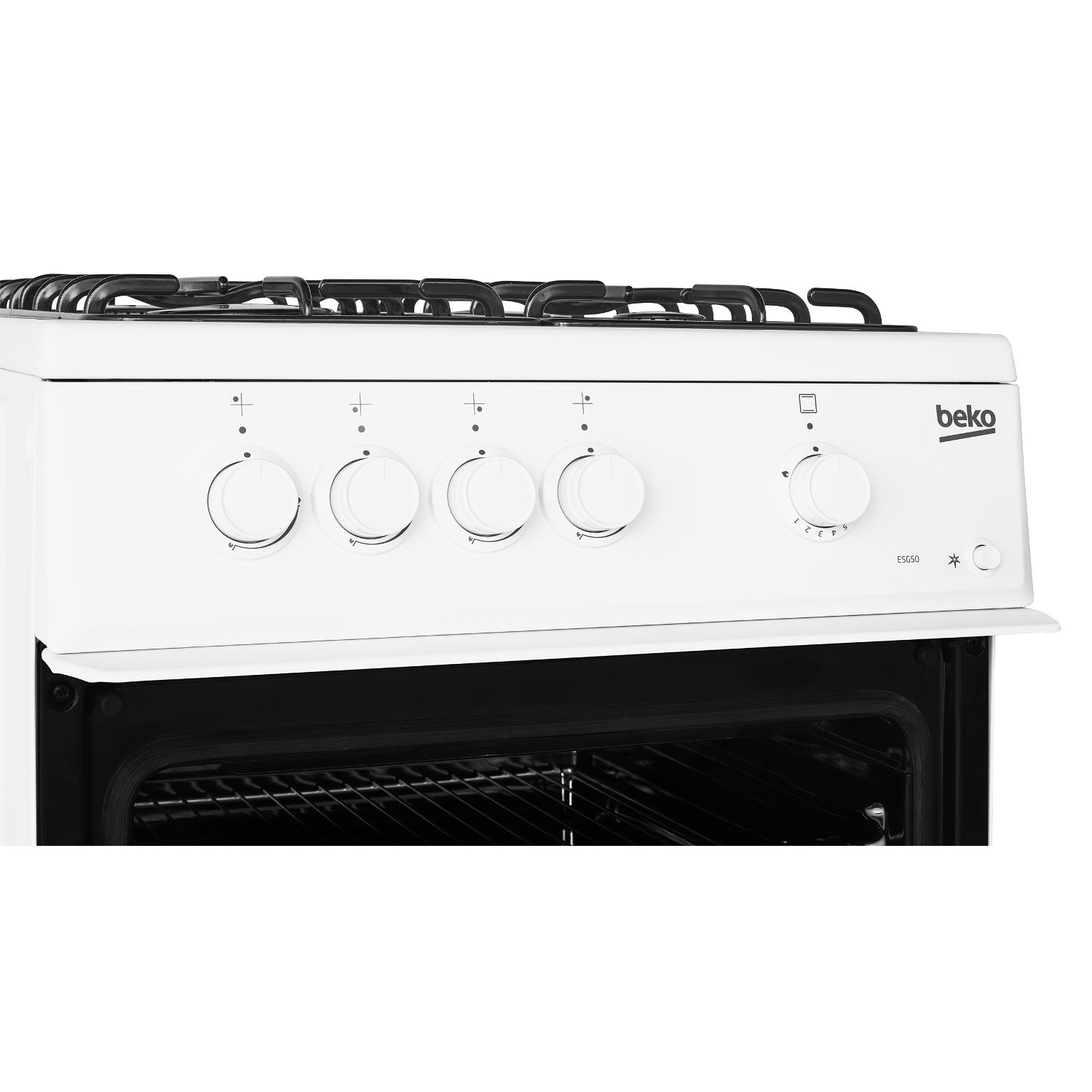 Beko 50cm Single Oven Gas Cooker - White - 6