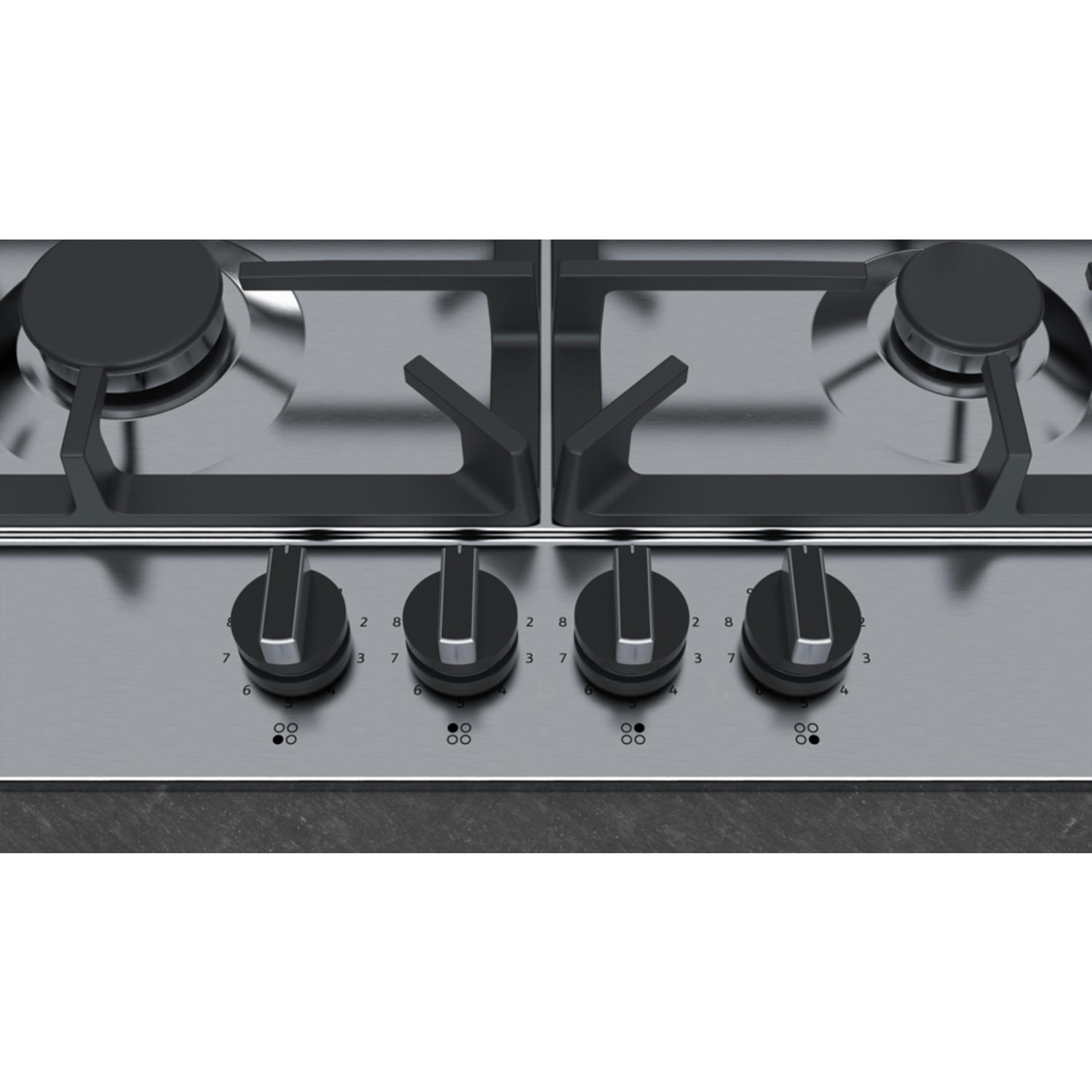 Neff 58cm Gas Hob - Stainless Steel - 3