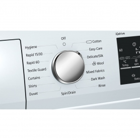 Siemens extraKlasse 9kg 1400 Spin Washing Machine - White - A+++ Rated - 1