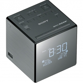 Sony Portable DAB/DAB+/FM Mirrored Digital Clock Radio