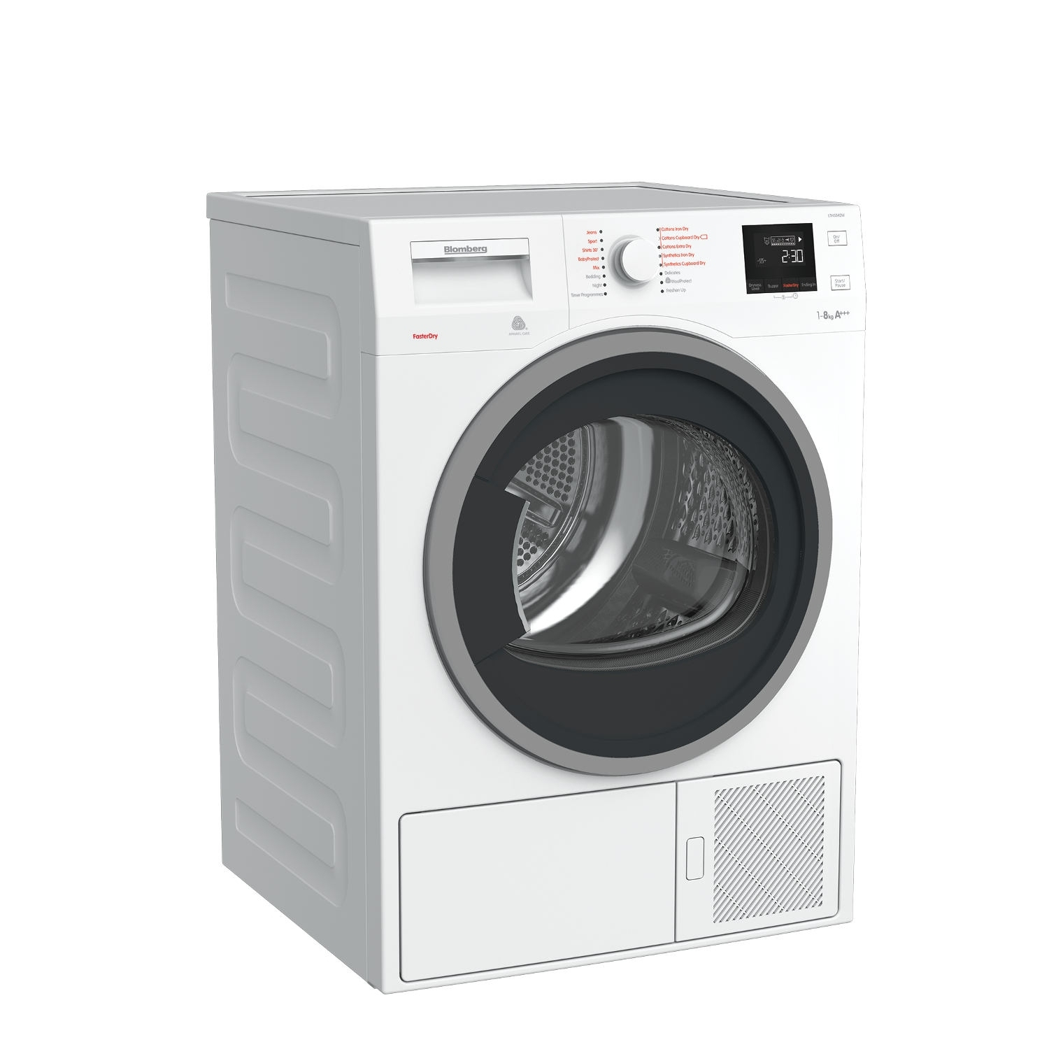 Blomberg LTH3842W 8kg Heat Pump Tumble Dryer - White - 4