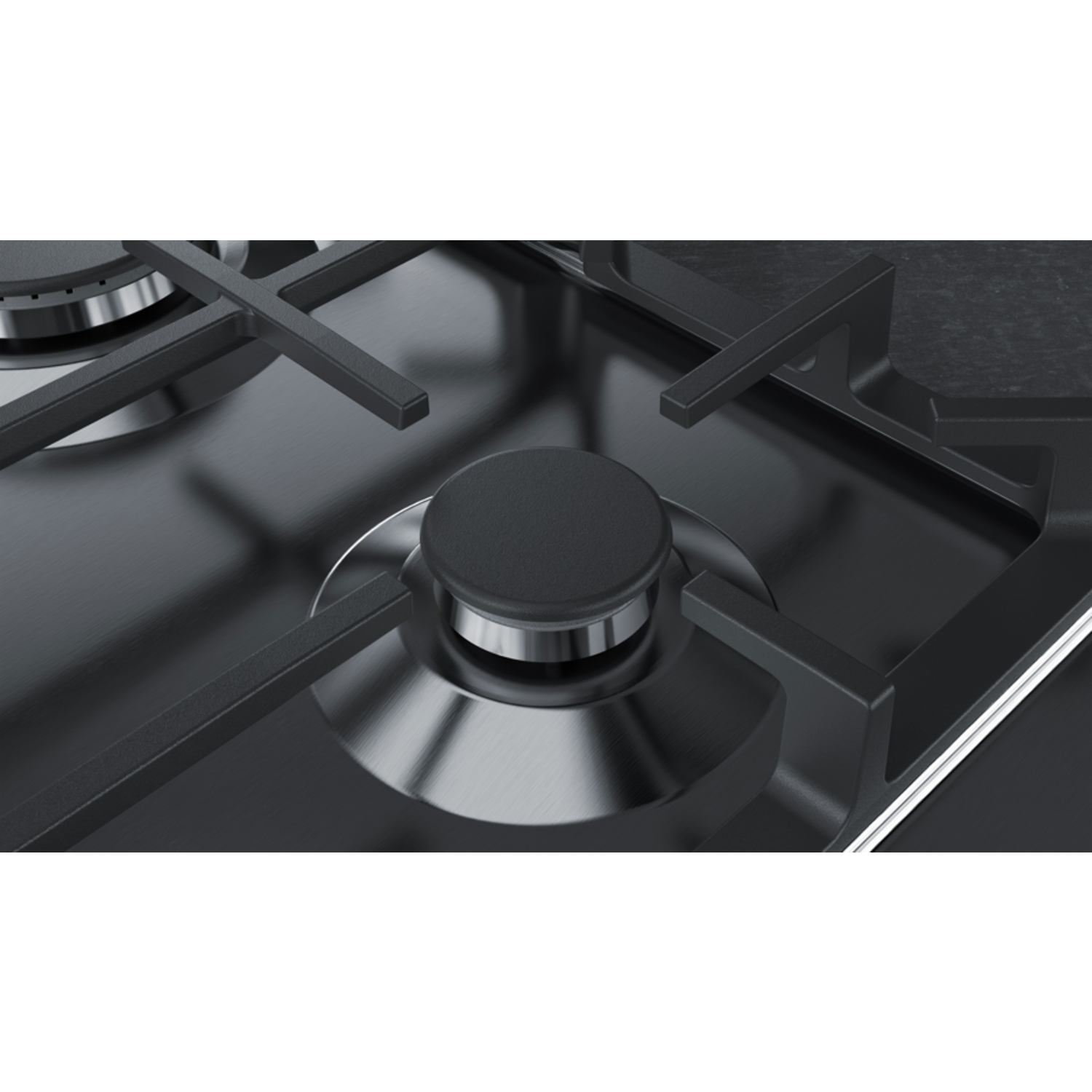 Neff 58cm Gas Hob - Stainless Steel - 2