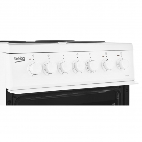 Beko 50cm Electric Double Oven with grill Cooker - White - A Energy Rated - 5