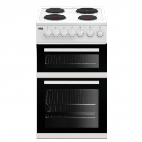 Beko 50cm Electric Double Oven with grill Cooker - White - A Energy Rated