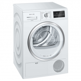 Siemens extraKlasse 9kg Condenser Tumble Dryer - White - B Rated - 1