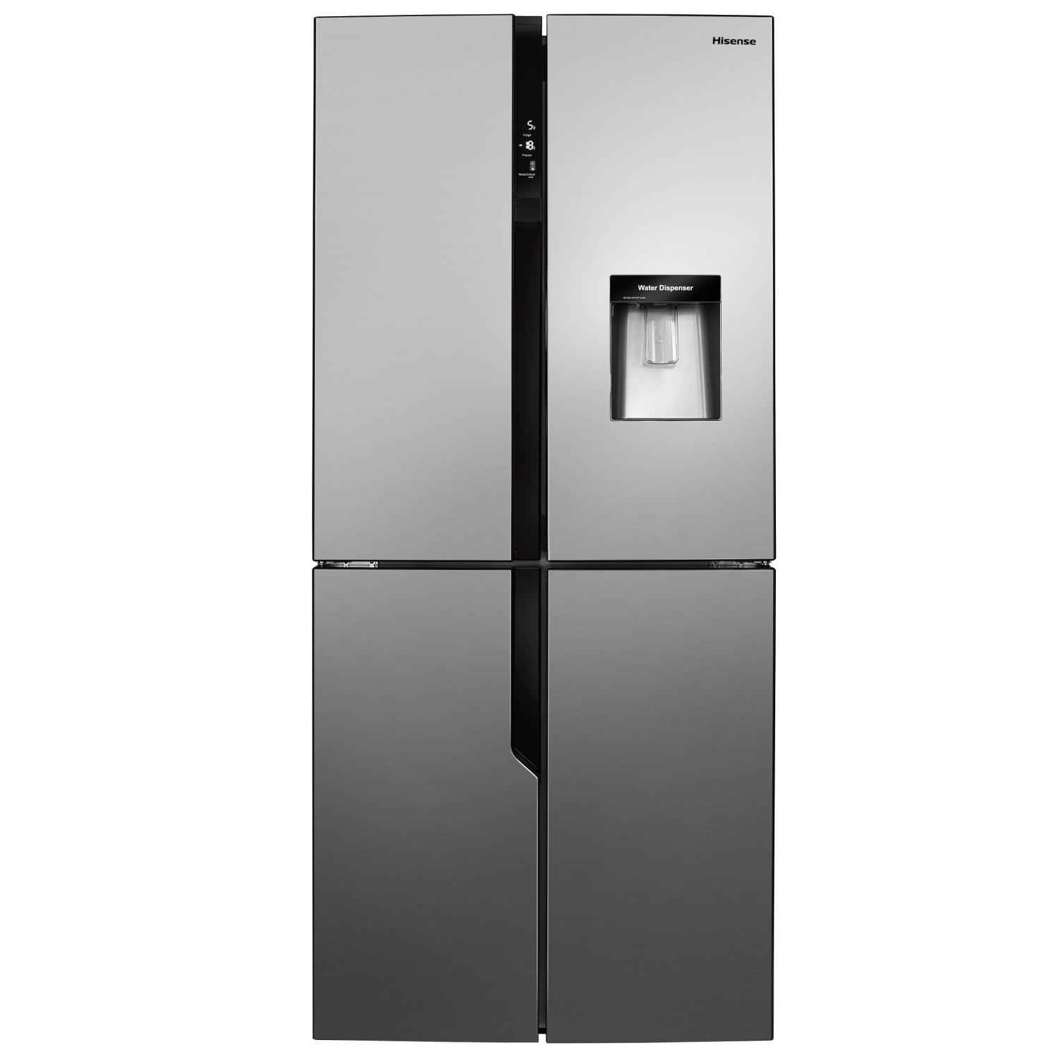 Hisense American Style Fridge Freezer - Stainless Steel Effect  - 7
