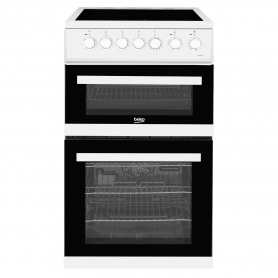 Beko 50cm Double Oven Electric Cooker - White - A/A Rated