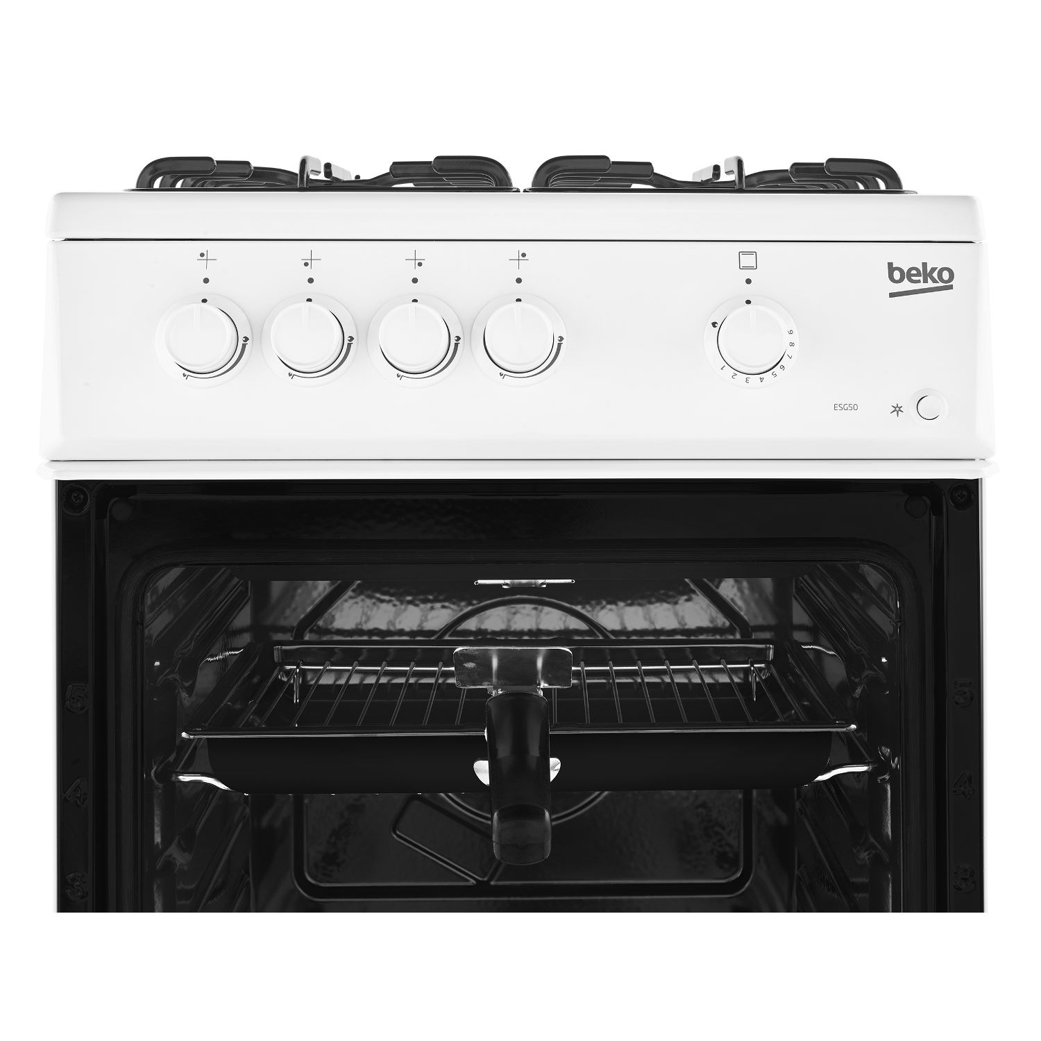 Beko 50cm Single Oven Gas Cooker - White - 5