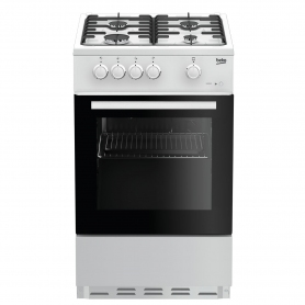 Beko 50cm Single Oven Gas Cooker - White - 0