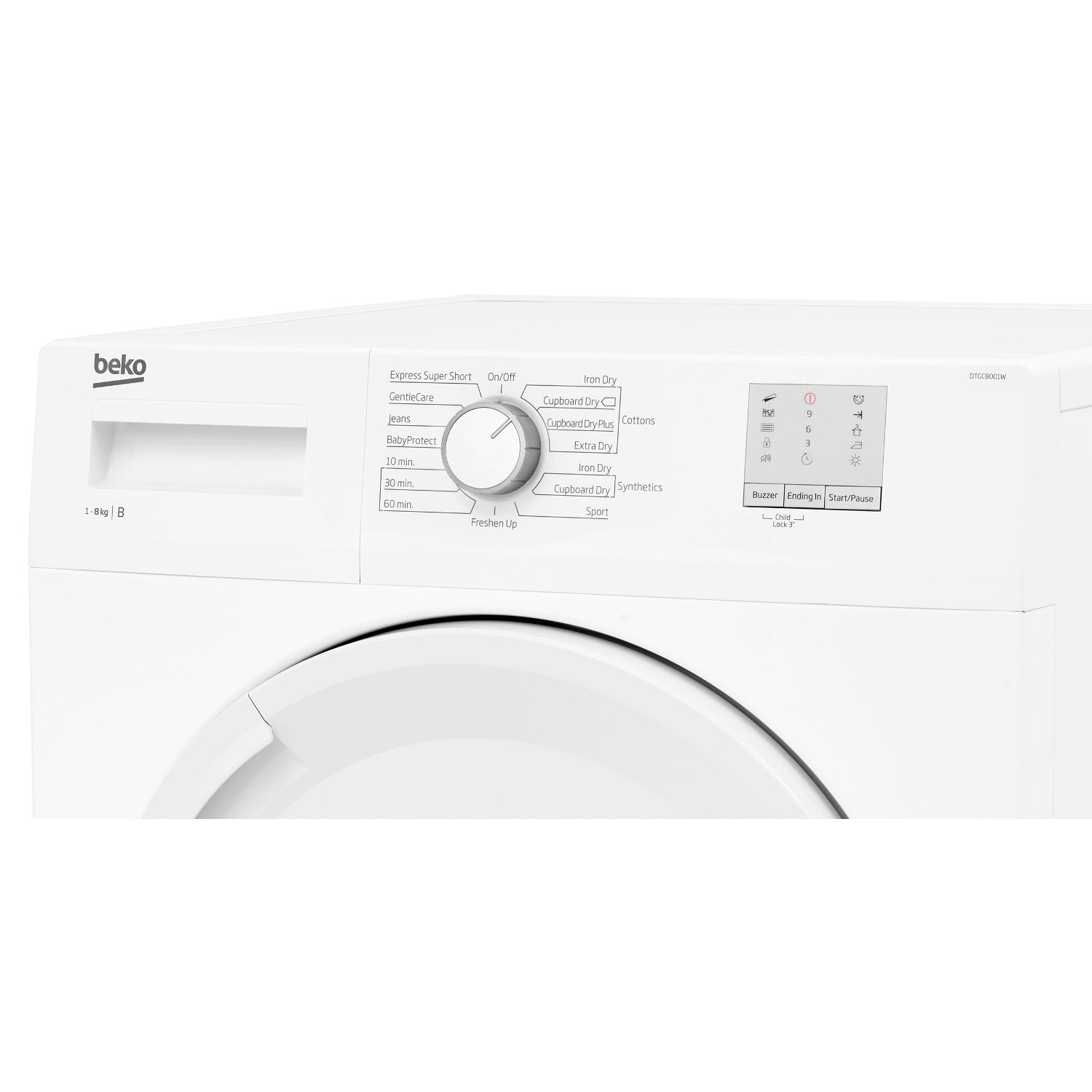 Beko 8kg Condenser Tumble Dryer - White - B Rated - 2