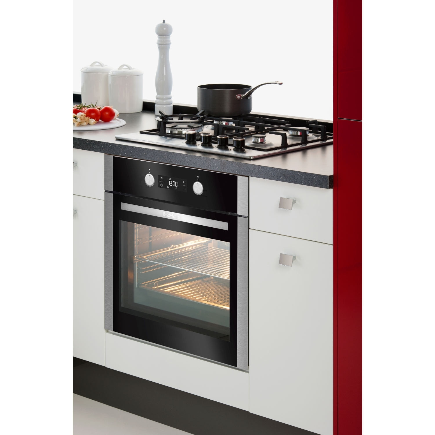 Blomberg OEN9302X 59.4cm Built Electric Single Oven - Stainless Steel - 1