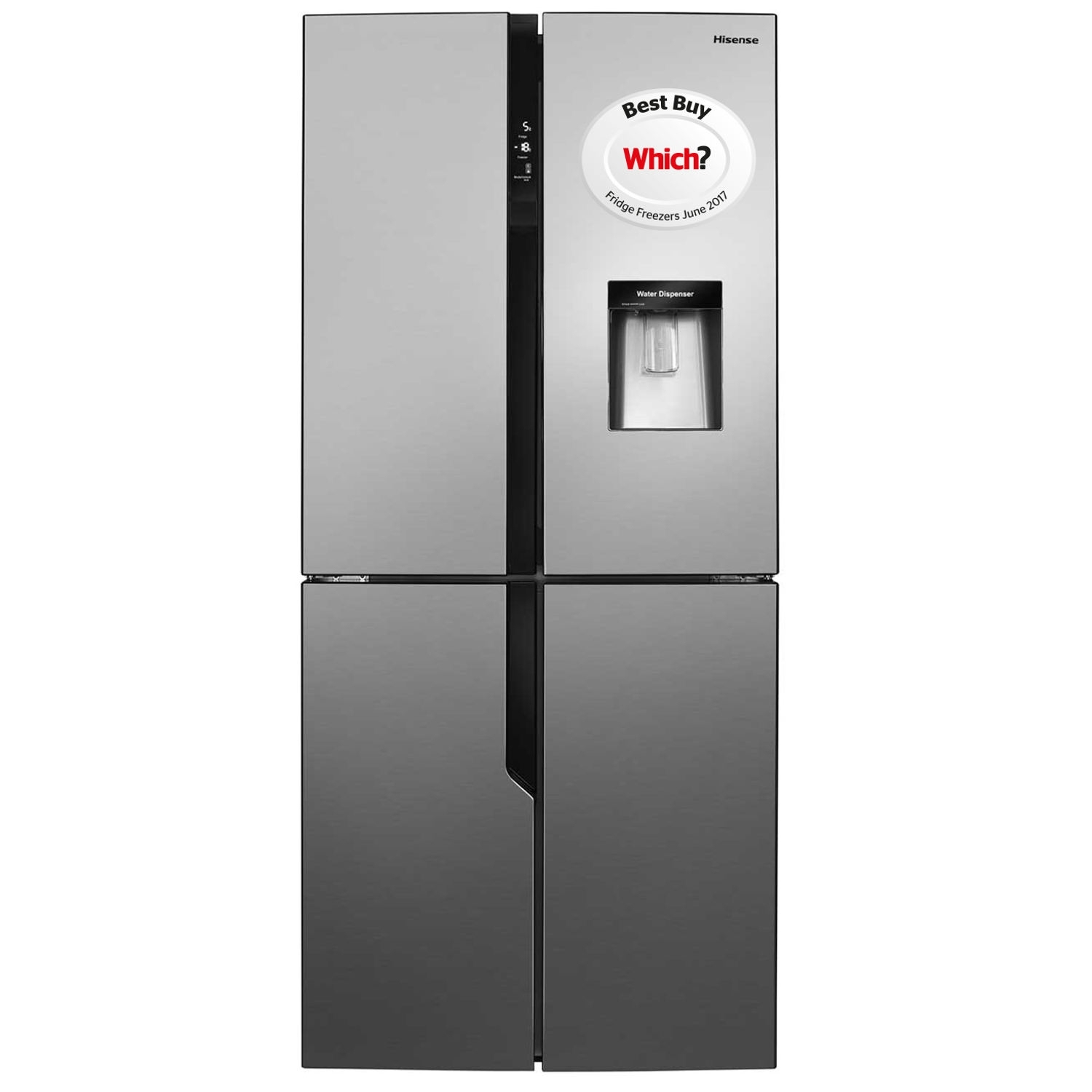Hisense American Style Fridge Freezer - Stainless Steel Effect  - 0