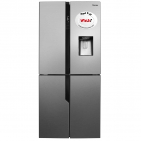 Hisense American Style Fridge Freezer - Stainless Steel Effect