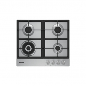 Blomberg 60cm Gas Hob with High Power Wok Burner - Stainless Steel - 6