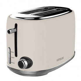 Linsar 2 Slice Toaster - Cream