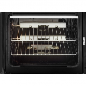 Beko 60cm Double Oven Gas Cooker with Glass Lid - White - 3