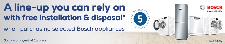 Bosch Free Installation & Disposal