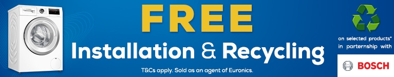 Bosch Free Installation & Recycling promo